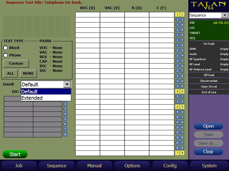 TALAN Multimeter Adjustable Dwell Time