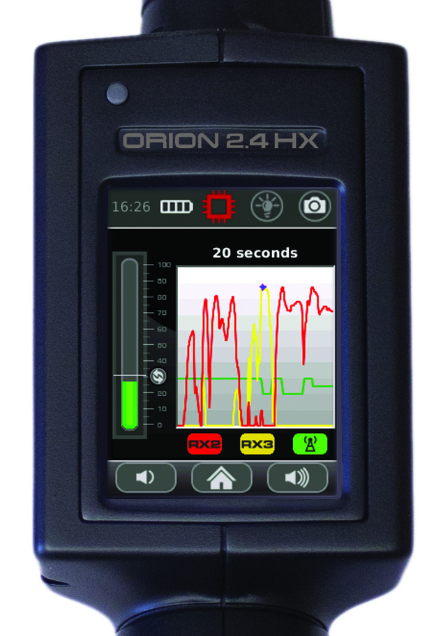 ORION 2.4 HX Non-Linear Junction Detector Histogram Display