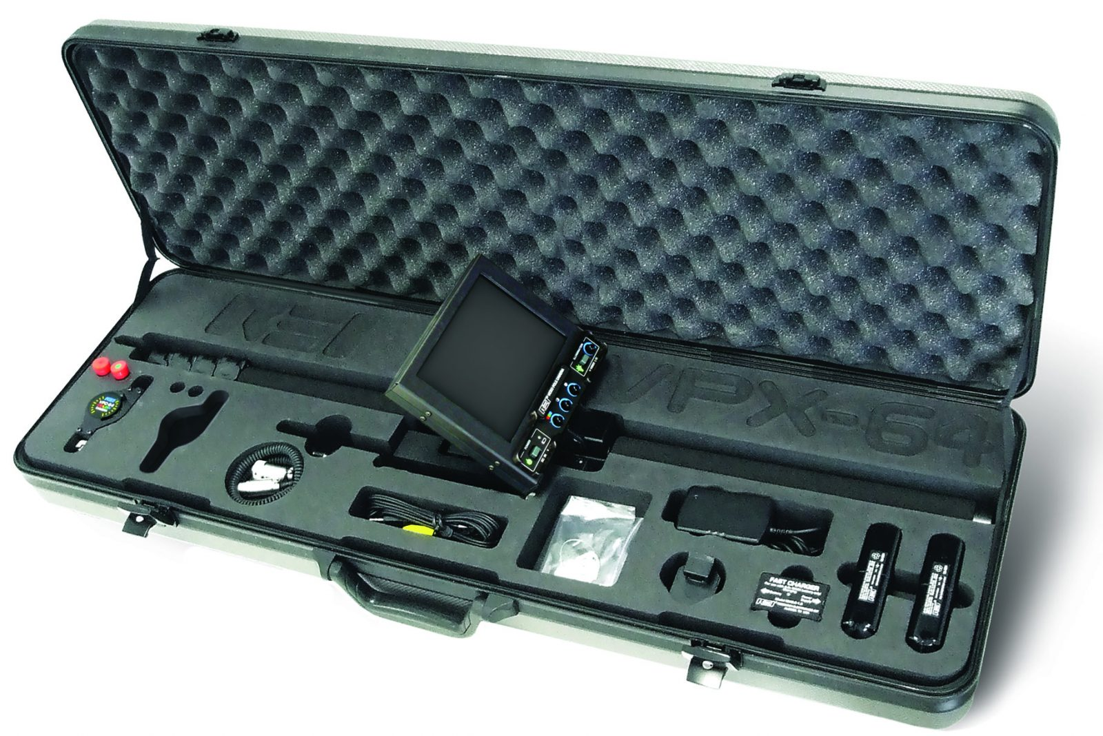 VPX-64 Video Pole Camera in case with accessories