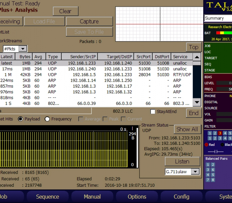 TALAN 3.0 Telephone and Line Analyzer VoIP Plus Analysis