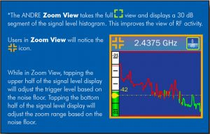 ANDRE Advanced Near-field Detection Receiver Zoom View Function